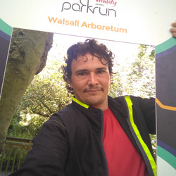 Selfie at Walsall Arboretum parkrun