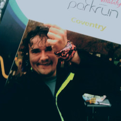 Selfie at Coventry parkrun