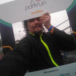 Selfie at Dudley parkrun