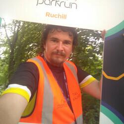 Selfie at Ruchill parkrun
