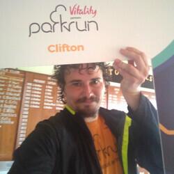 Selfie at Clifton parkrun
