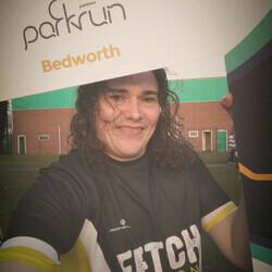 Selfie at Bedworth parkrun