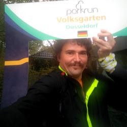 Selfie at Volksgarten parkrun