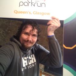 Selfie at Queen's parkrun, Glasgow